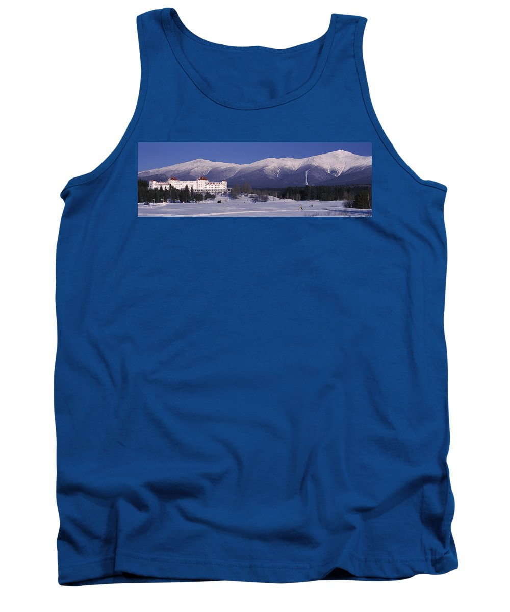 Photography Tank Top featuring the photograph Hotel Near Snow Covered Mountains, Mt by Panoramic Images