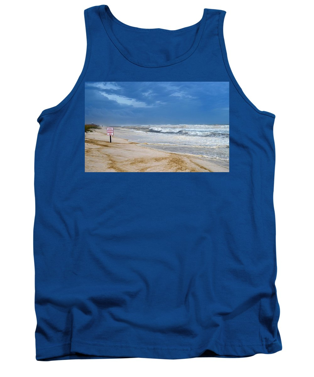 Hurricane Tank Top featuring the photograph Hurricane Isaac Impacts Navarre Beach by Jeff at JSJ Photography