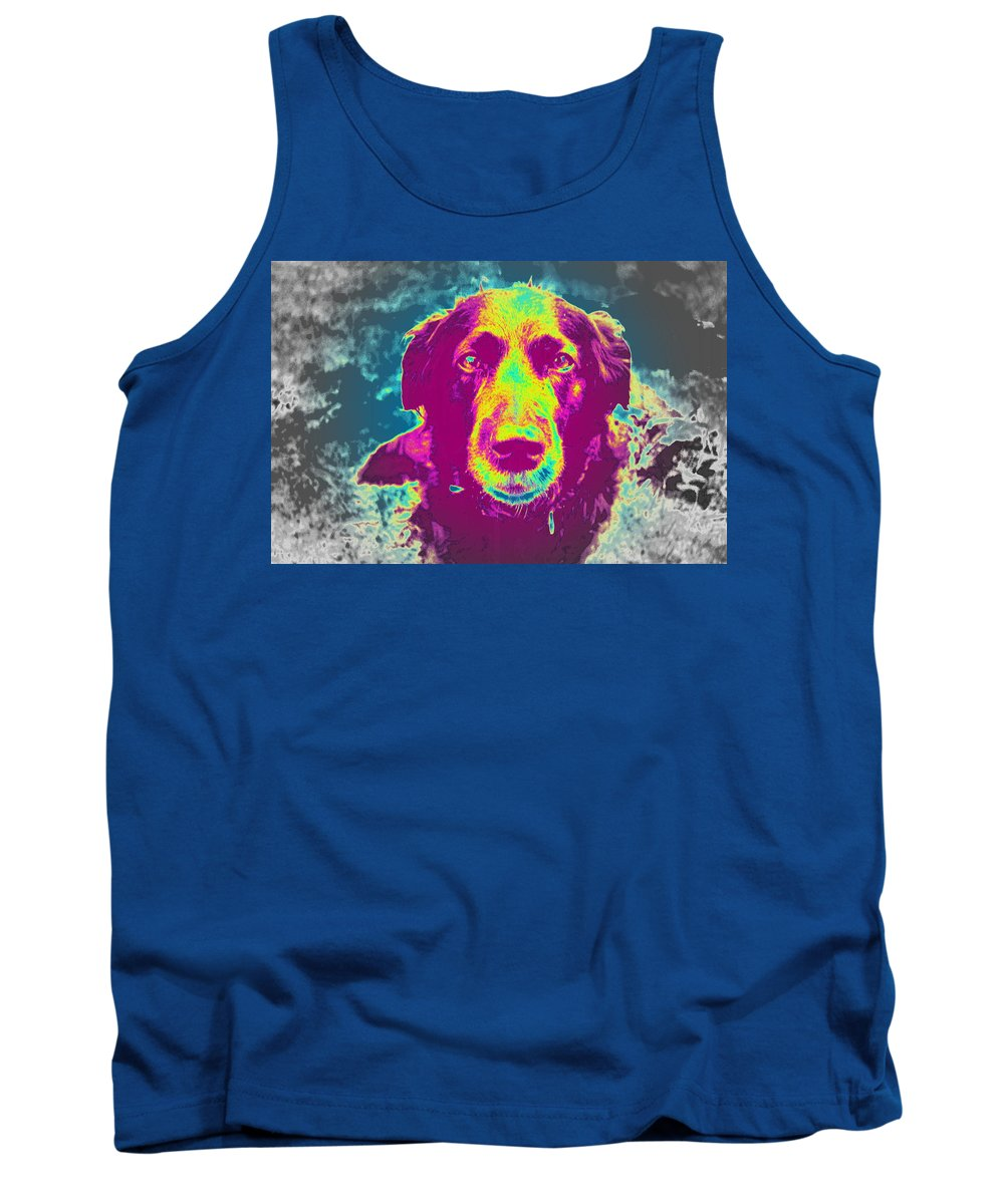 Dog Tank Top featuring the photograph You Are In My Dreams, Am I In Yours by Hilde Widerberg