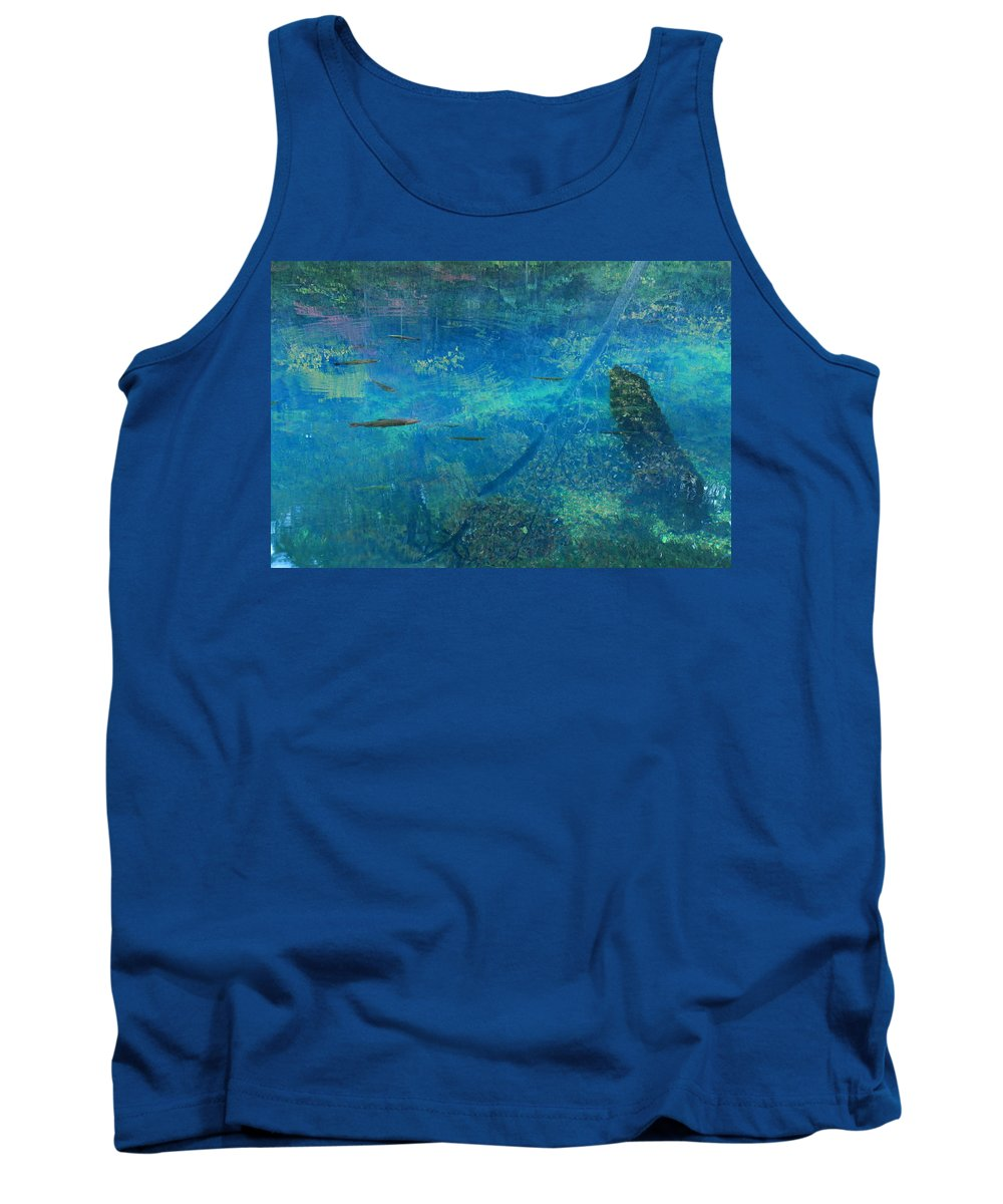Maramec Tank Top featuring the photograph Impressionist Trout by Scott Rackers