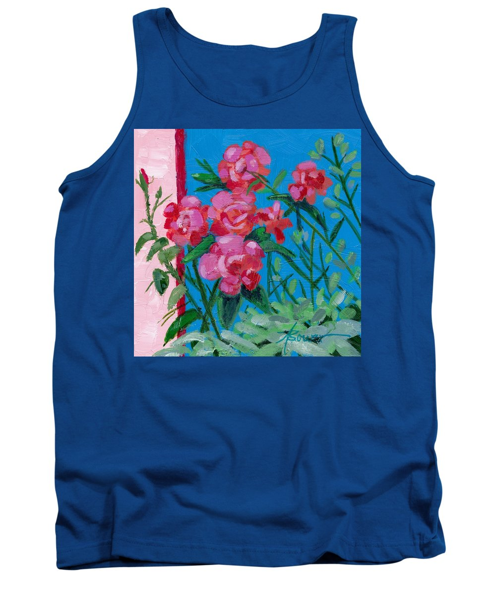 Flowers Tank Top featuring the painting Ioannina Garden by Adele Bower