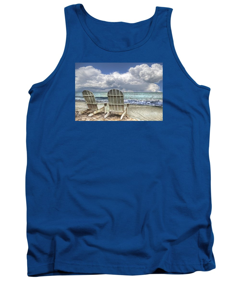 Clouds Tank Top featuring the photograph Island Attitude by Debra and Dave Vanderlaan