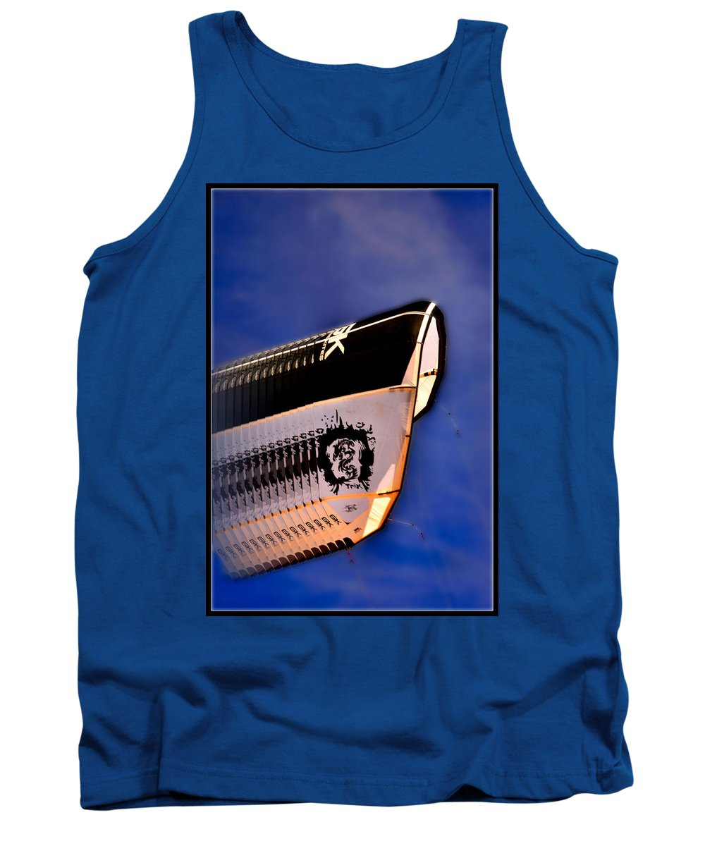 Kite Tank Top featuring the photograph Kite Surfing In Motion by Michael Tucker
