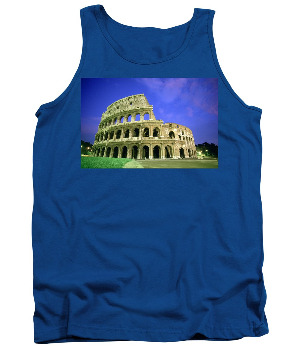 Tank Top featuring the photograph K.straiton Colosseum, Rome by Ken Straiton