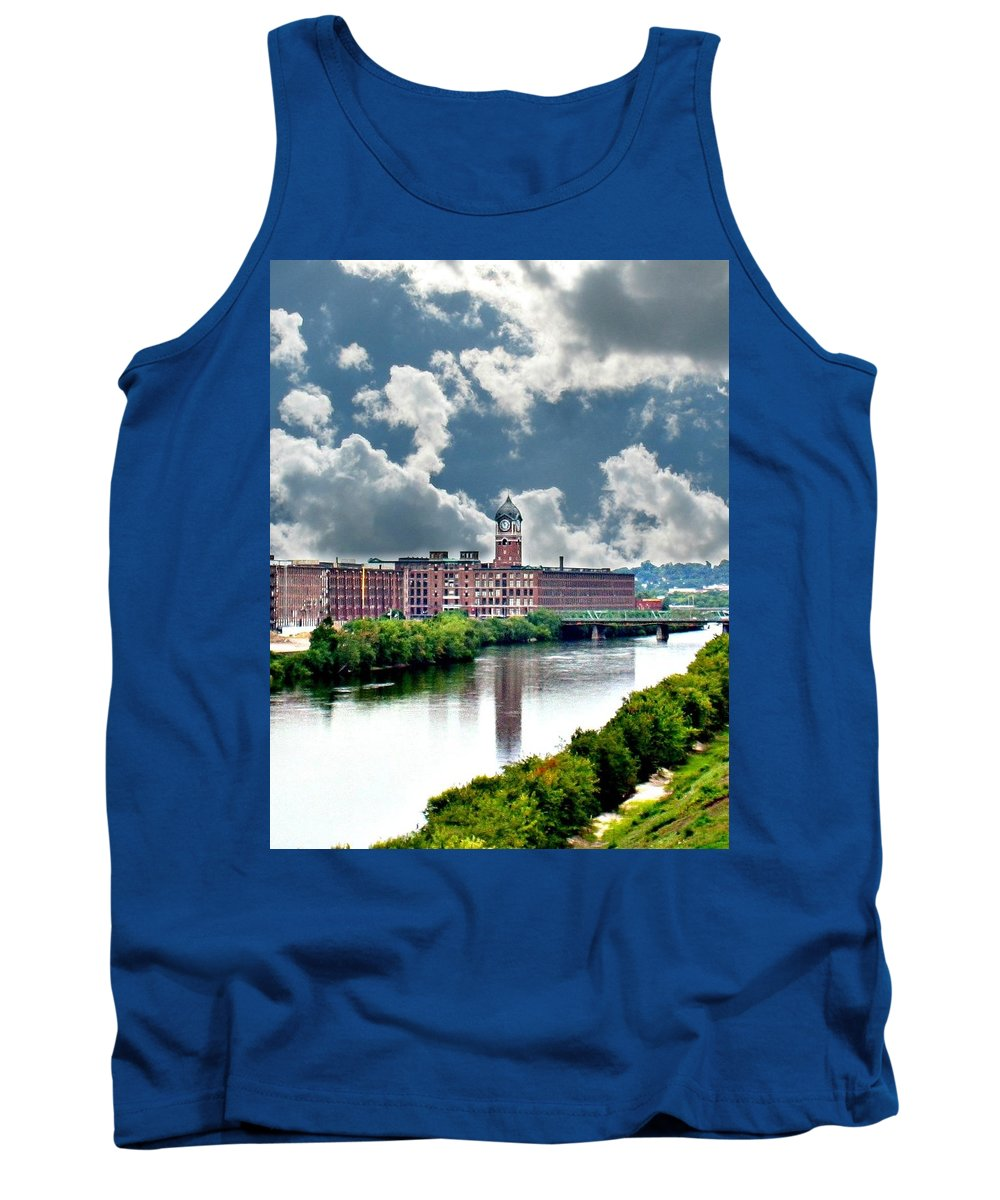 Lawrence Tank Top featuring the photograph Lawrence Ma Historic Clock Tower by Barbara S Nickerson