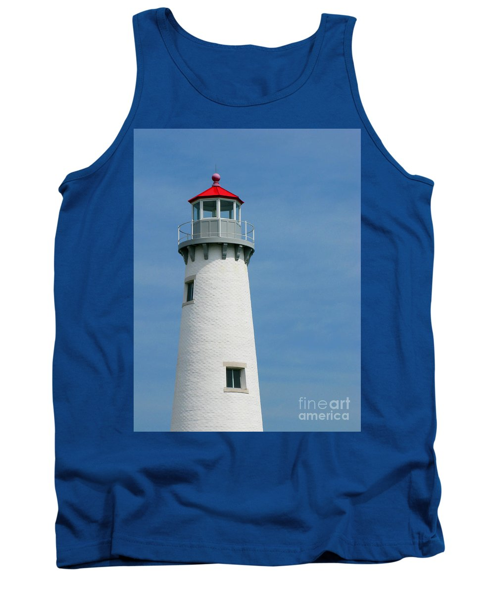 Lighthouse Tank Top featuring the photograph Lighthouse by Ann Horn