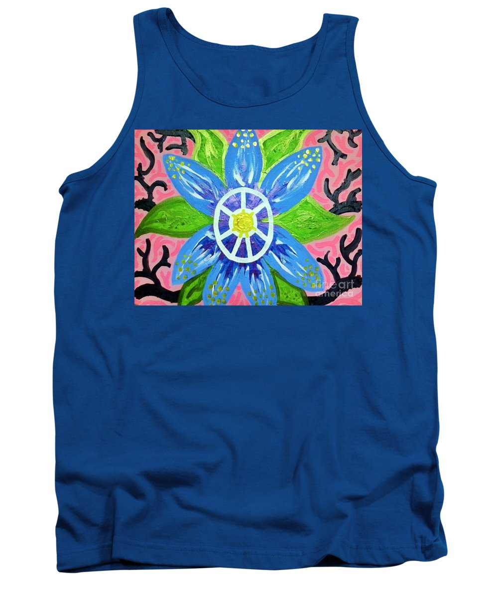 Tribal Tank Top featuring the painting Living Light by Alexander Ladd