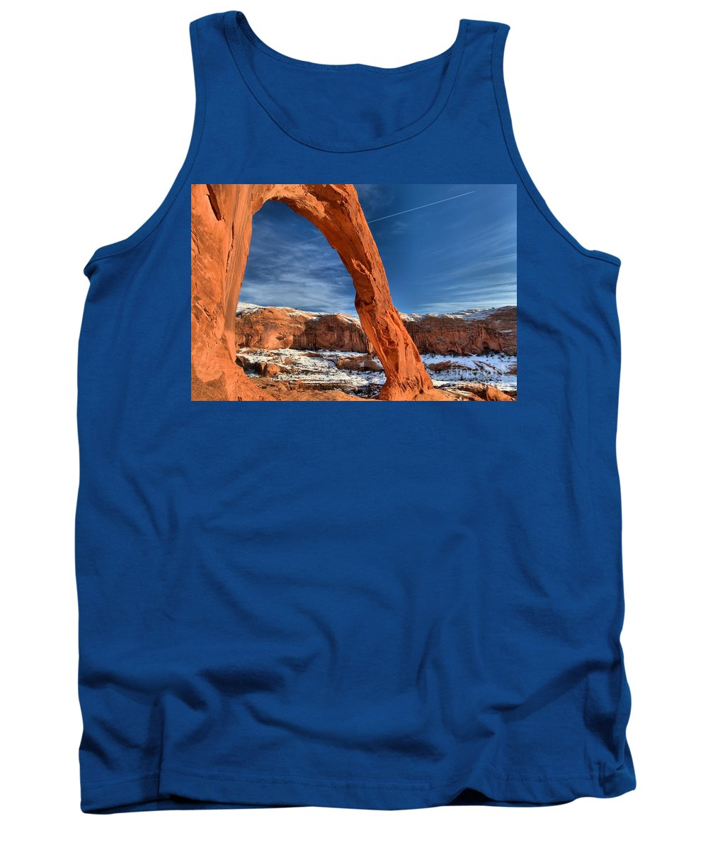 Coronoa Arch Tank Top featuring the photograph Looking Through Corona by Adam Jewell
