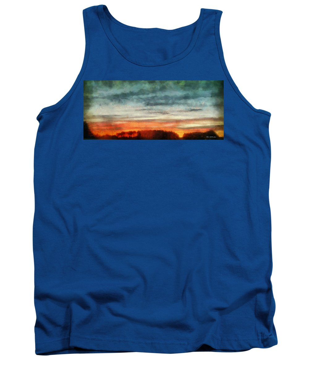 Landscape Tank Top featuring the painting Maine Sunset by RC DeWinter