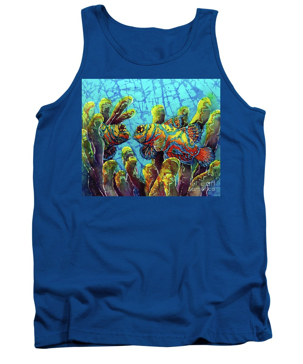 Mandarinfish Tank Top featuring the painting Mandarinfish by Sue Duda