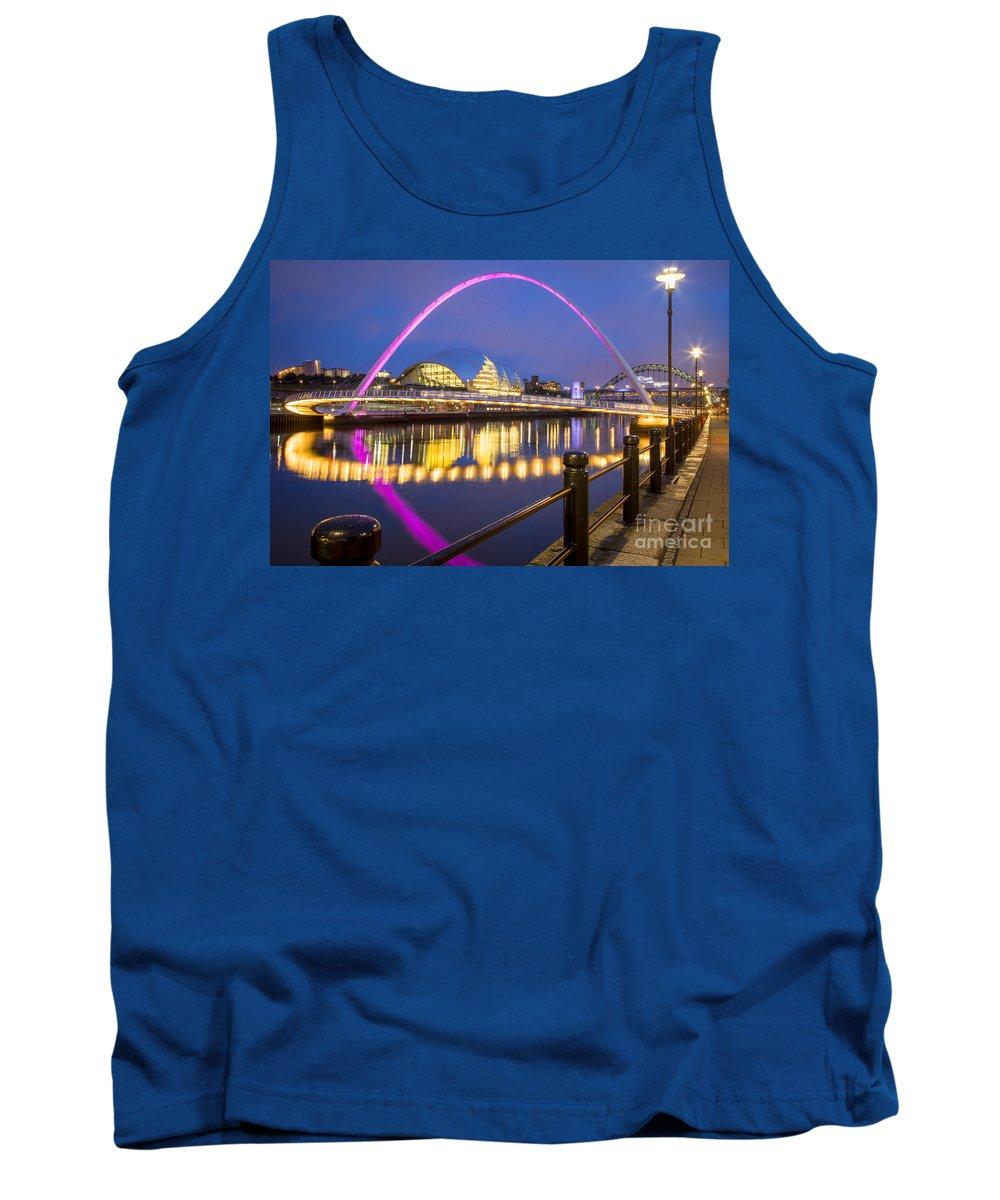 Bridge Tank Top featuring the photograph Millennium Bridge - Gateshead by Brian Jannsen
