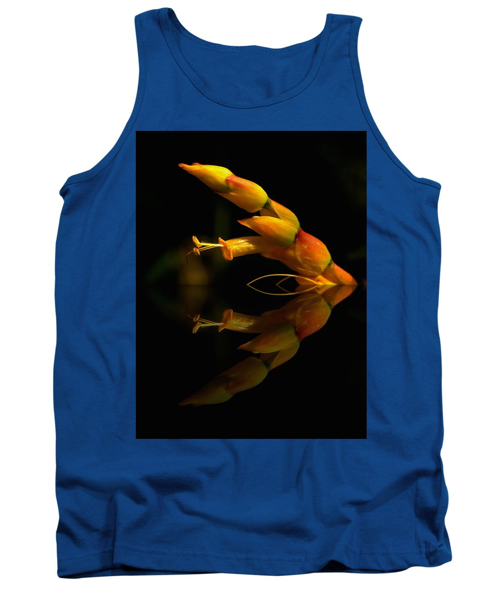 Blooms Tank Top featuring the photograph Mirror Image by Kathi Isserman