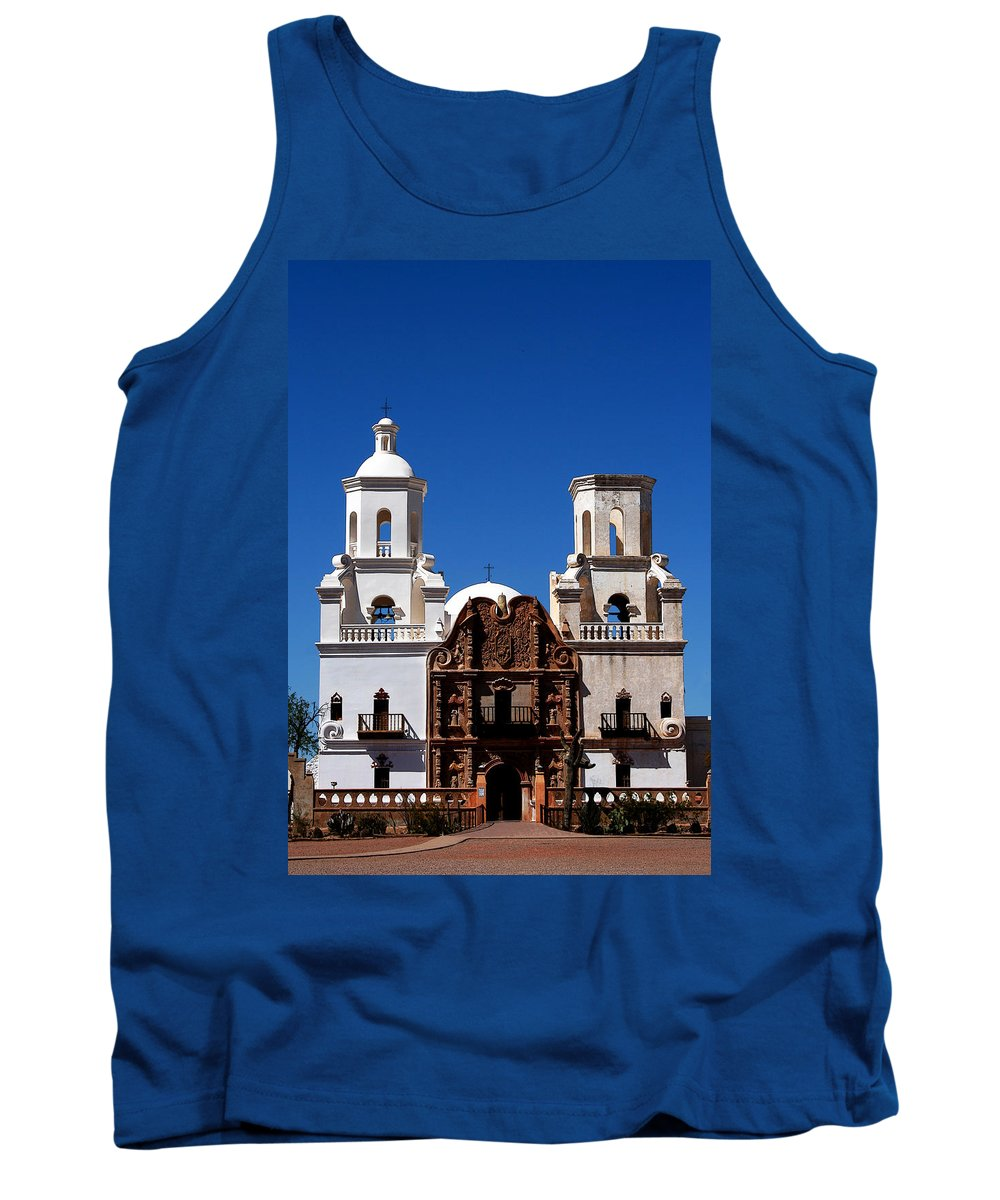 Church Tank Top featuring the photograph Mission San Xavier Del Bac by Joe Kozlowski