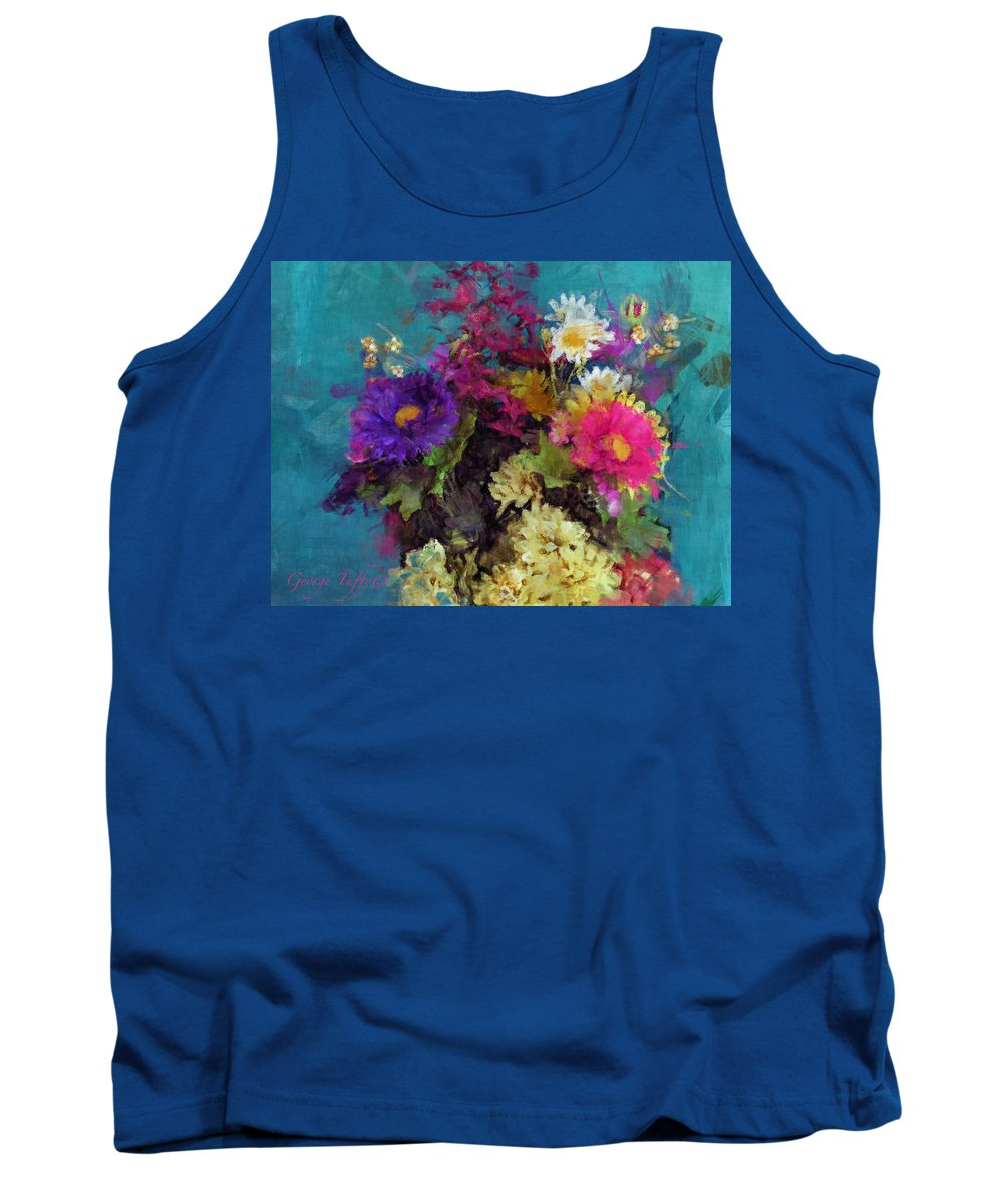 Flower Paintings Tank Top featuring the photograph Mixed Bouquet by George Tuffy