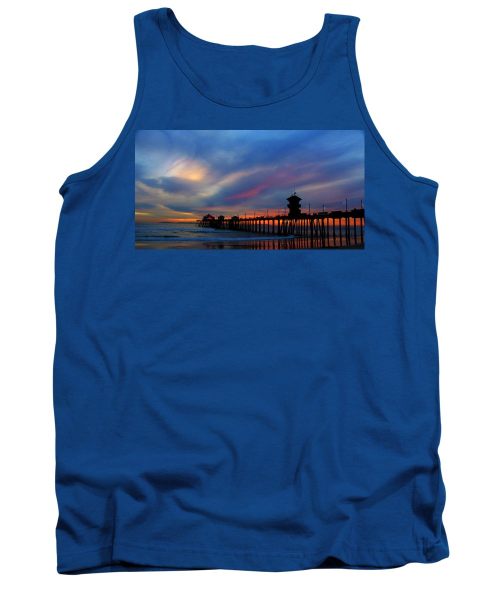 Beach Tank Top featuring the photograph Moody Blue by Ann Michelle Smith