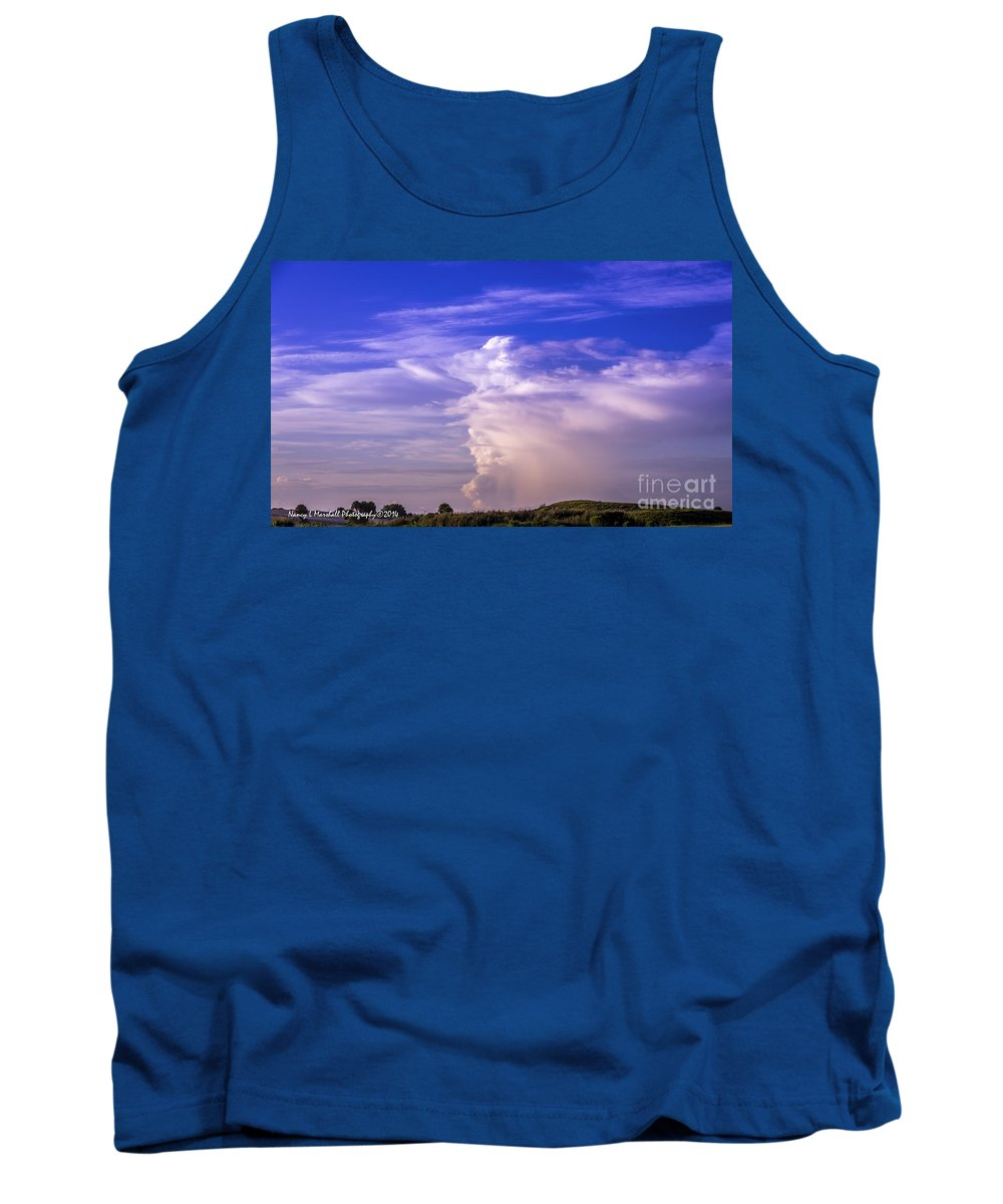 Florida Tank Top featuring the photograph Morning Clouds by Nancy L Marshall