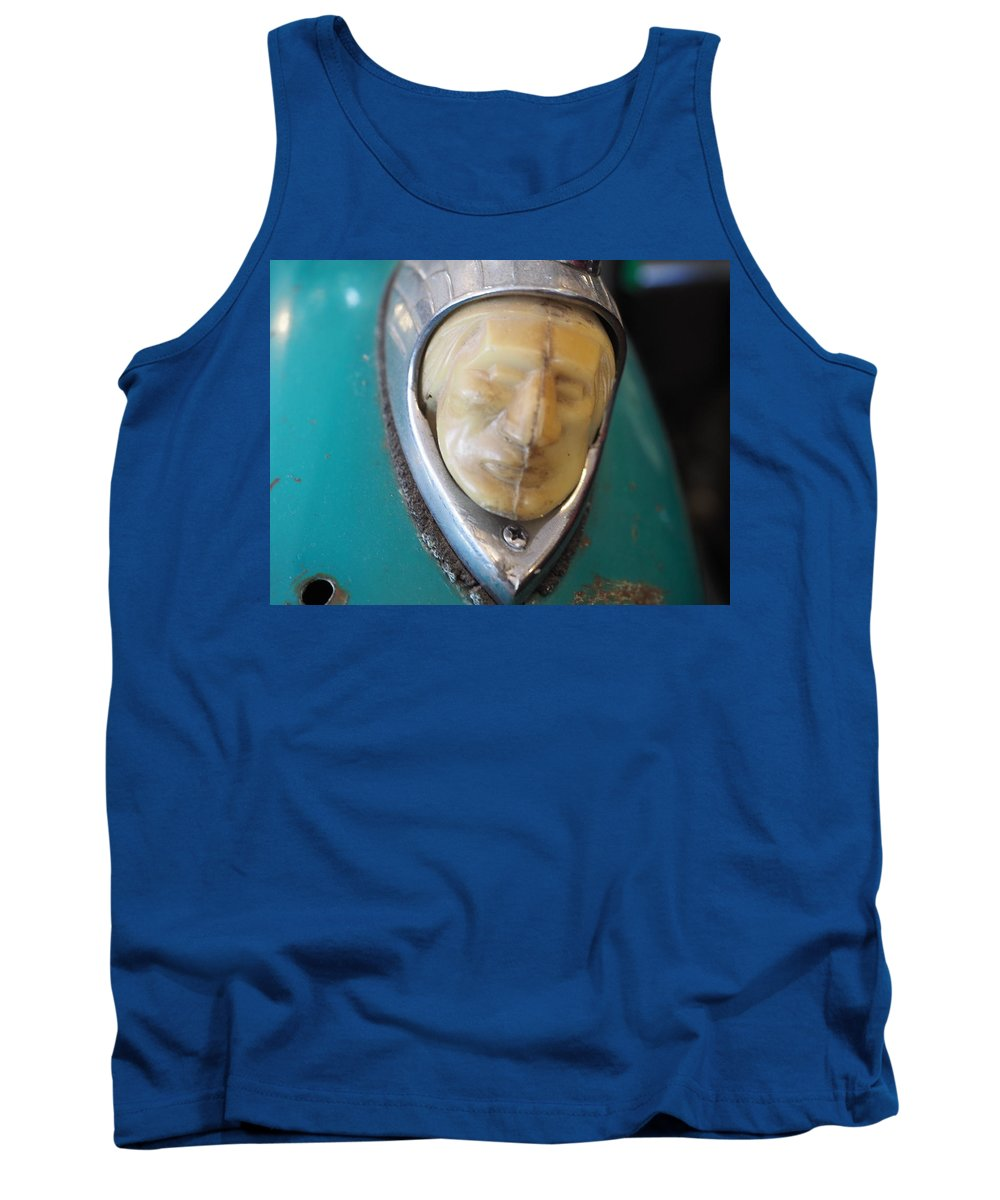 Cycles Tank Top featuring the photograph Motorcycle Medalion by Mark Ball