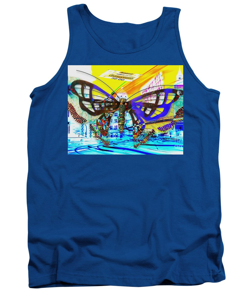 Nasdaq Who Tank Top featuring the painting Nasdaq Who by Catherine Lott