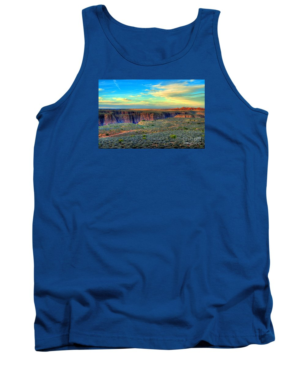 Diana Graves Photography Tank Top featuring the photograph Navajo Sunset by K D Graves