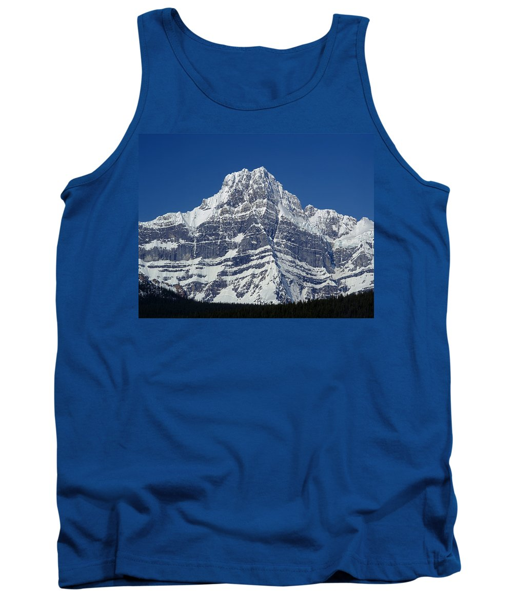 Howse Peak Tank Top featuring the photograph 1m3644-ne Face Of Howse Peak by Ed Cooper Photography