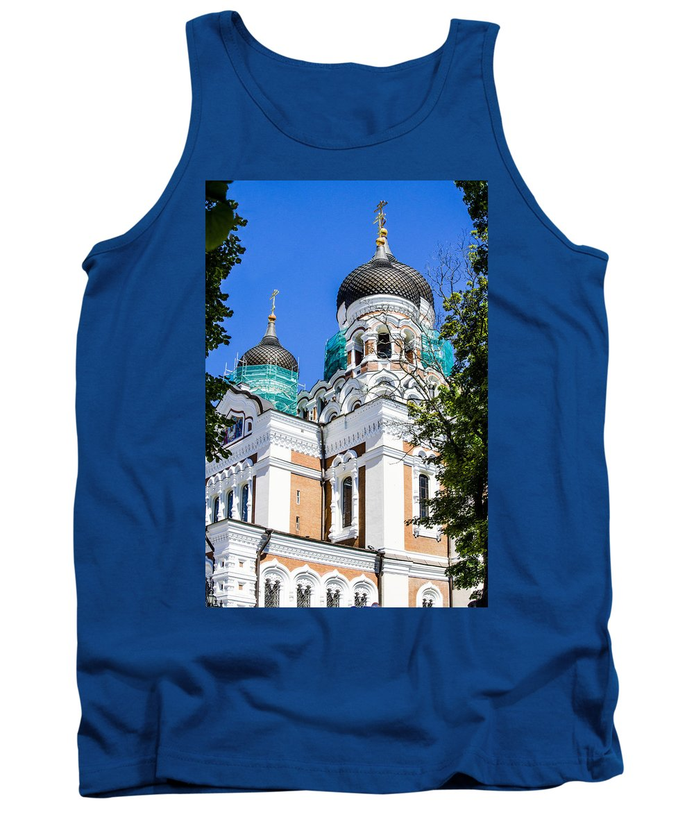 Estonia Tank Top featuring the photograph Nevsky Cathedral - Tallin Estonia by Jon Berghoff