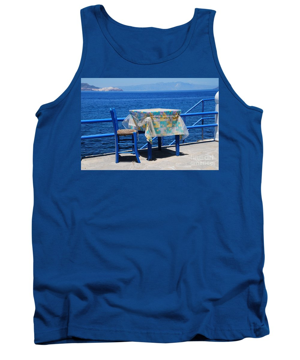 Nisyros Tank Top featuring the photograph Nisyros Taverna by David Fowler