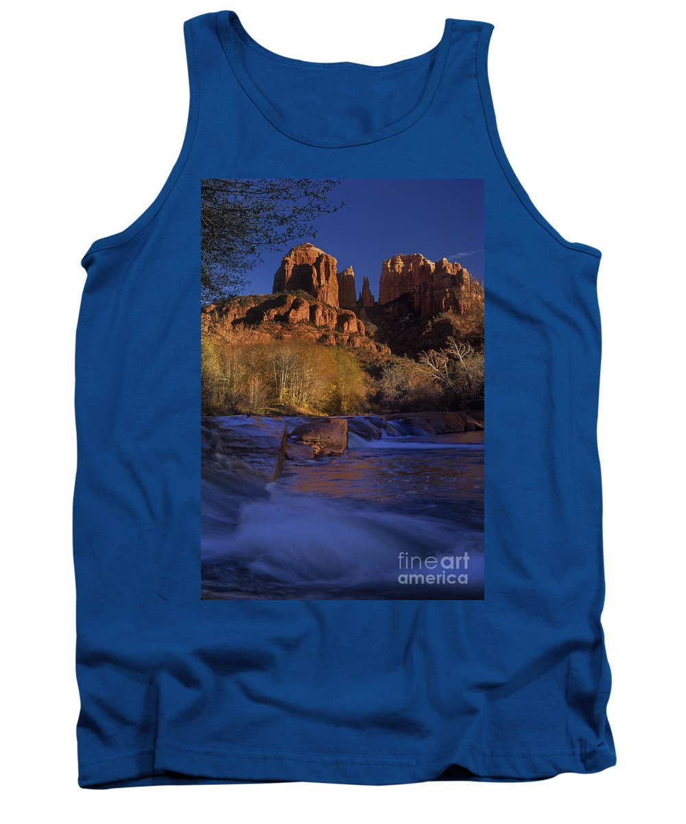 North America Tank Top featuring the photograph Oak Creek Crossing Sedona Arizona by Dave Welling