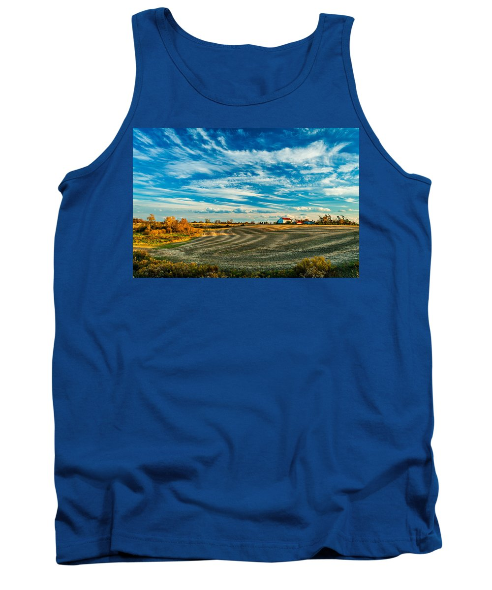 Landscape Tank Top featuring the photograph October Patterns by Steve Harrington