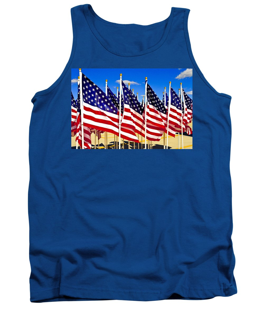 Flags Tank Top featuring the photograph Old Glorys' by Greg Fortier