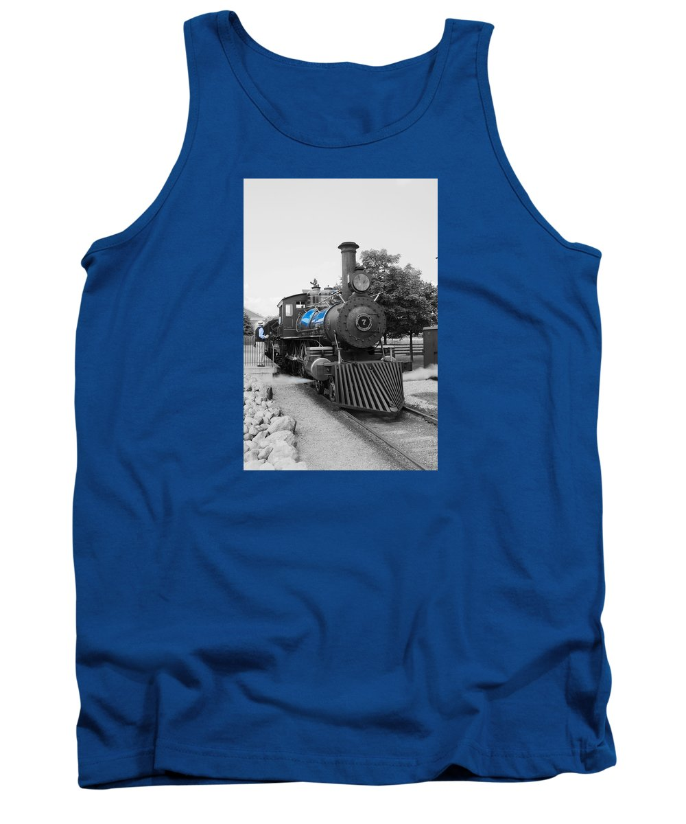 Tank Top featuring the photograph Old No. 7 Black White And Blue by Daniel Thompson