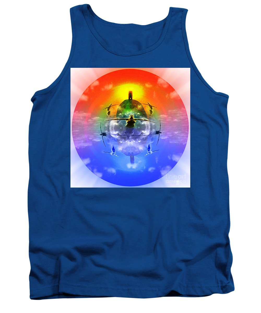 Sunrise Tank Top featuring the digital art On The Rise by Neil Finnemore