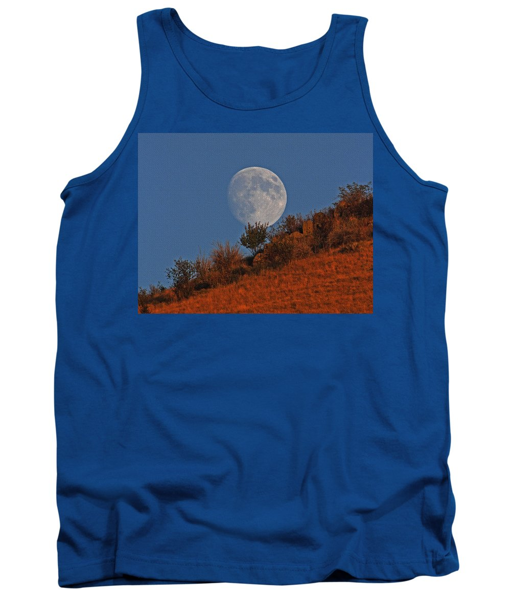 Oregon Moon Tank Top featuring the photograph Oregon Moon by Tom Janca