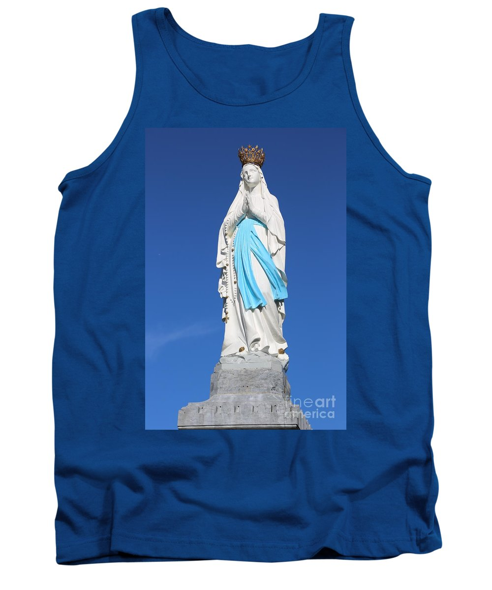 Mary Tank Top featuring the photograph Our Lady Of Lourdes by Carol Groenen