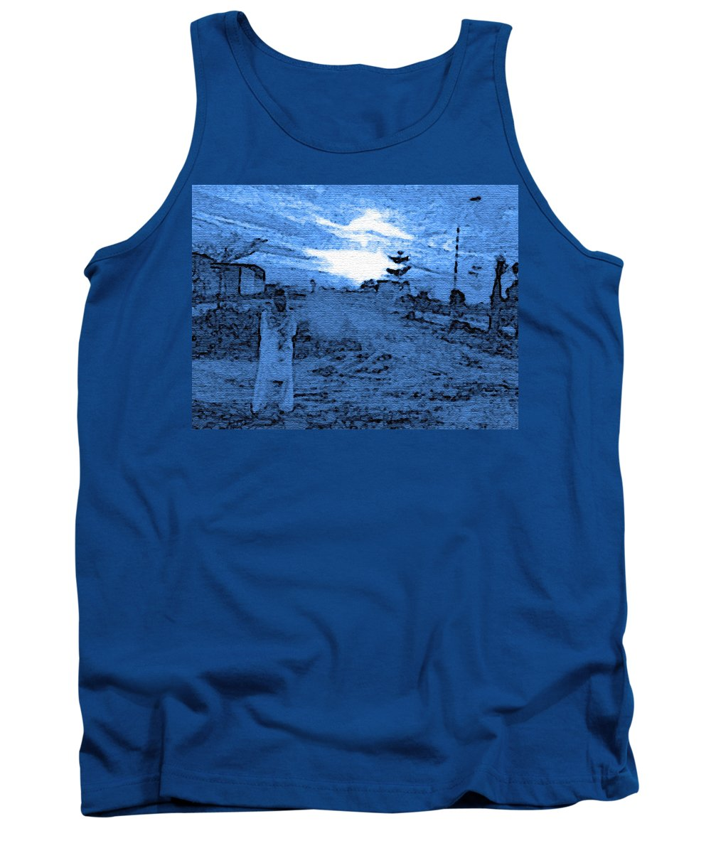 Expressive Tank Top featuring the photograph Pakistani Man At Sunset 2 by Lenore Senior