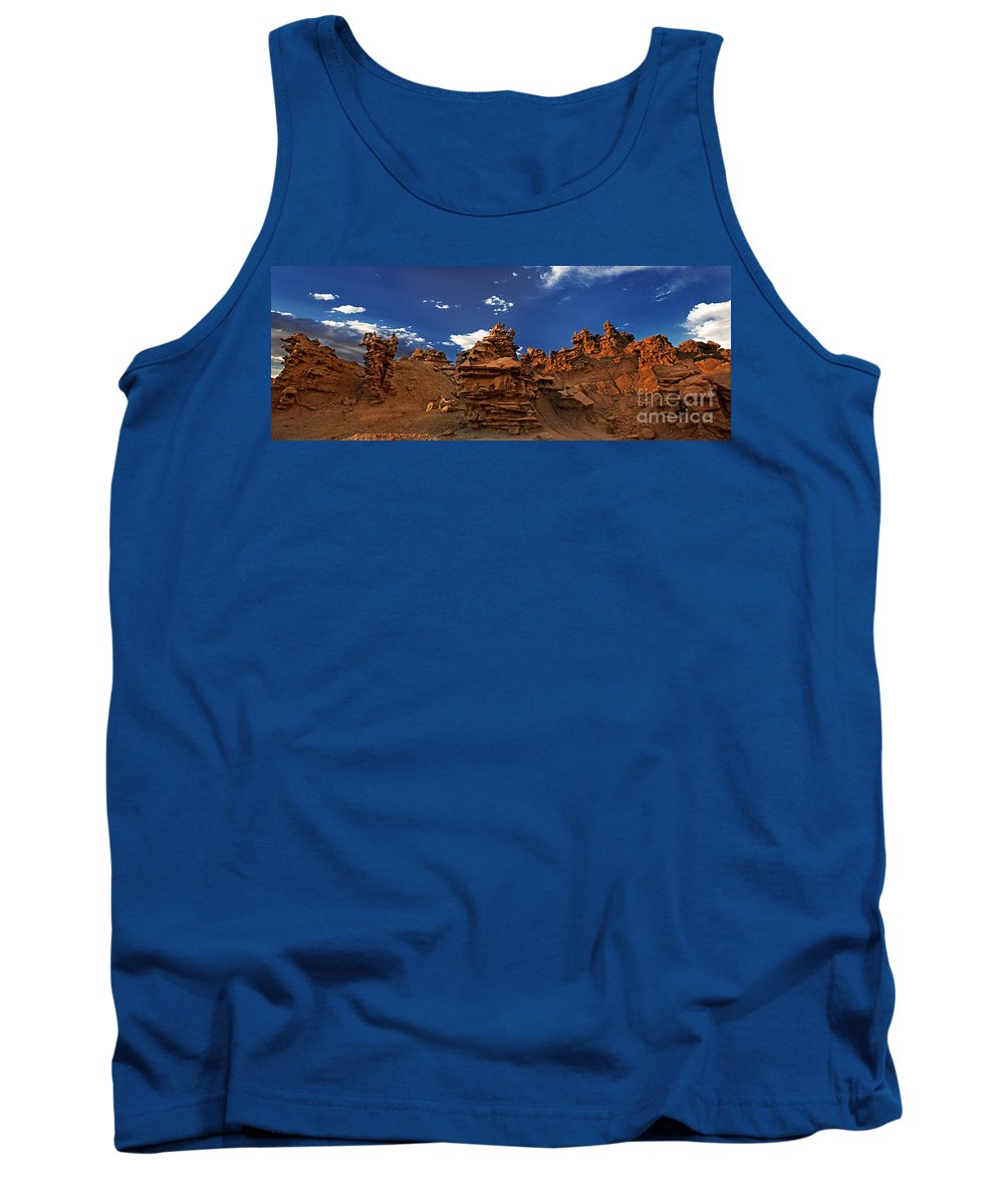 North America Tank Top featuring the photograph Panoramic Sunset Light On Sandstone Formations Fantasy Canyon by Dave Welling