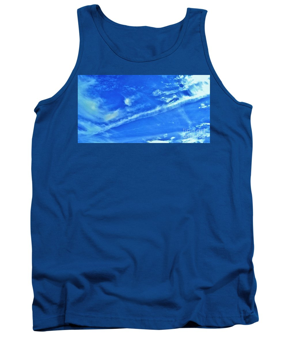 Desert Cloudy Sky Tank Top featuring the photograph Passing Thru by Angela J Wright