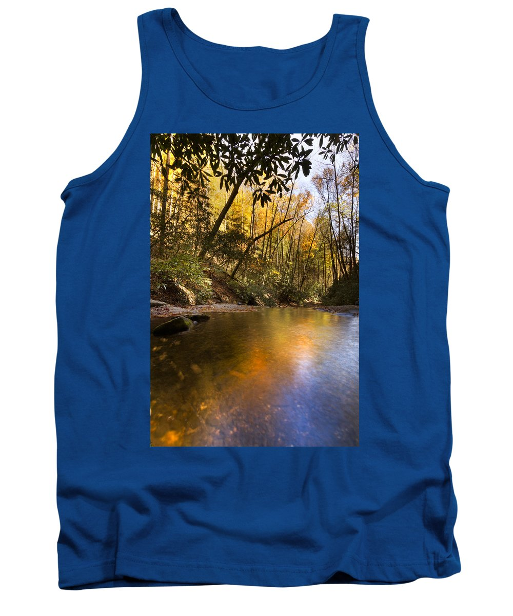 Appalachia Tank Top featuring the photograph Peace Like A River by Debra and Dave Vanderlaan