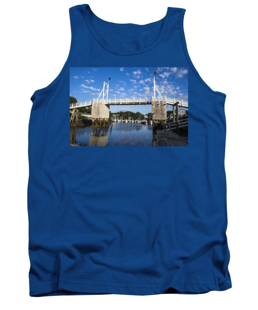Boat Tank Top featuring the photograph Perkins Cove - Maine by Steven Ralser