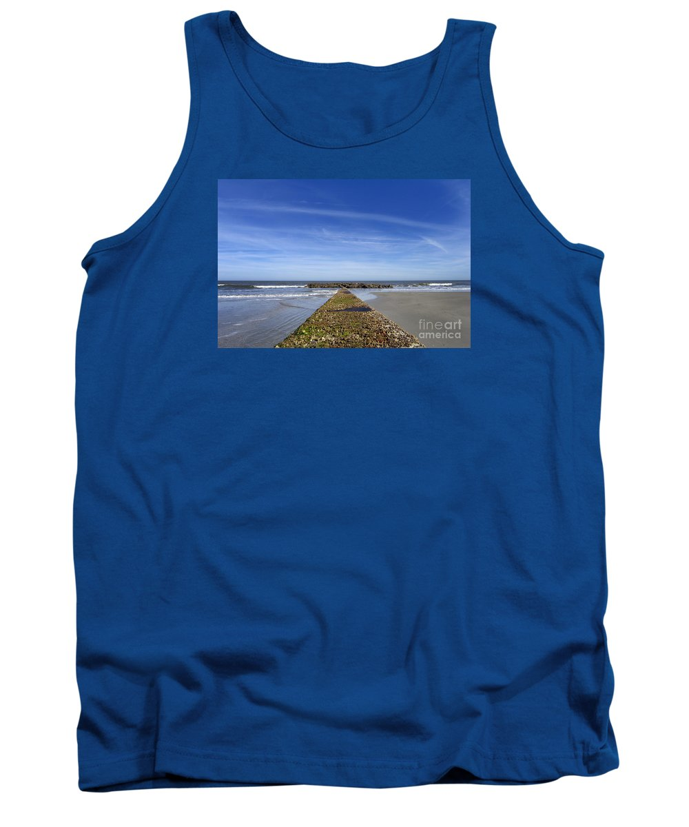 Scenic Tours Tank Top featuring the photograph Pier One by Skip Willits