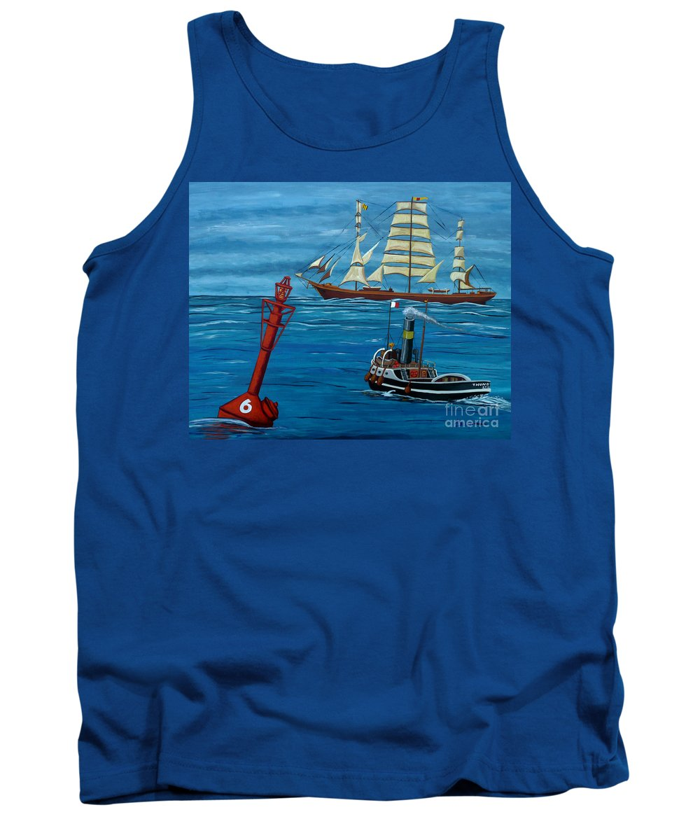 Sea Tank Top featuring the painting Pilot Required by Anthony Dunphy