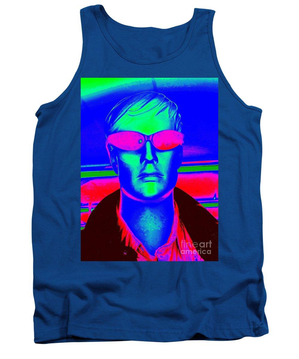 Pop Art Tank Top featuring the digital art Pink Sunglasses by Ed Weidman