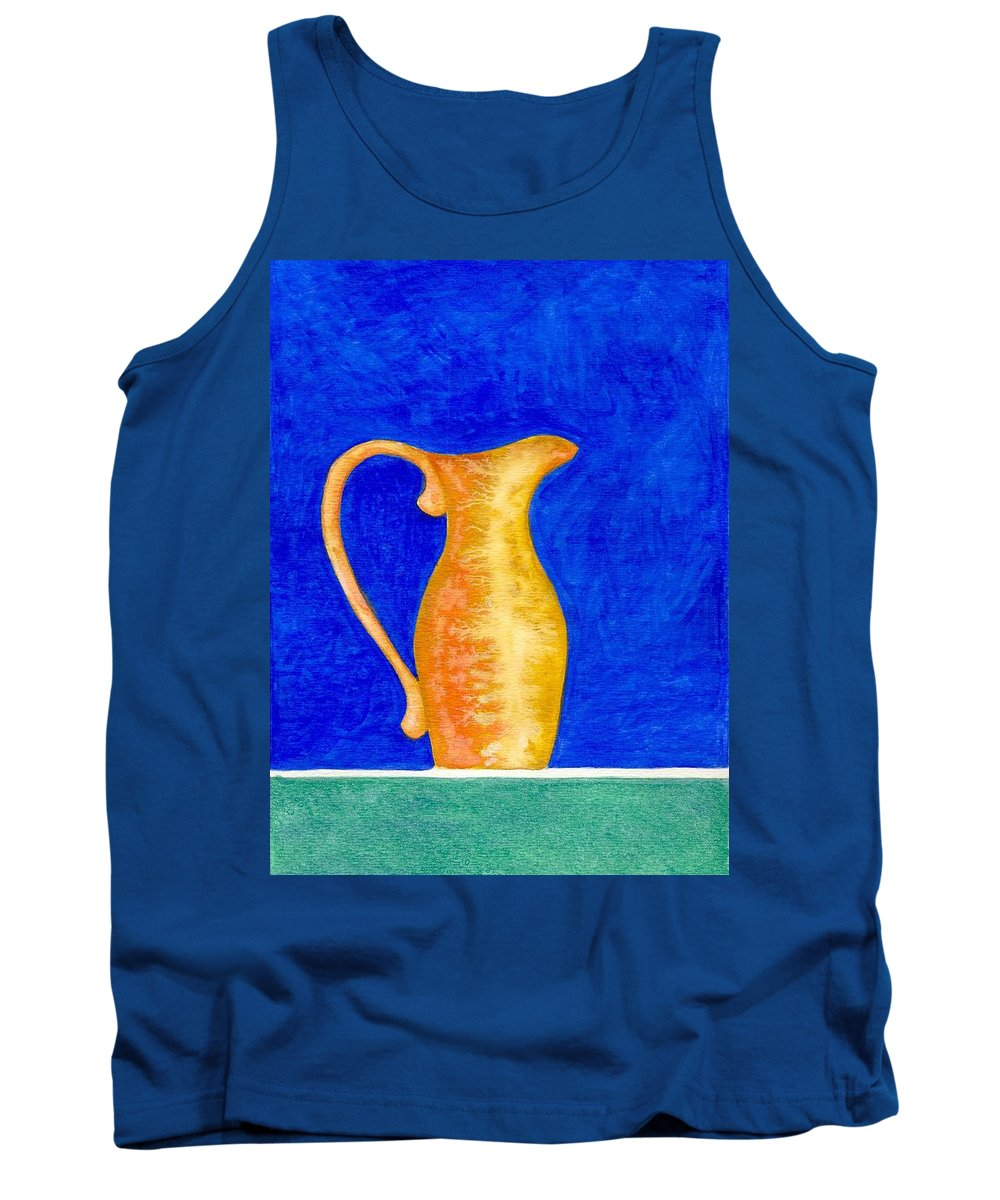 Still Life Tank Top featuring the painting Pitcher 2 by Micah Guenther