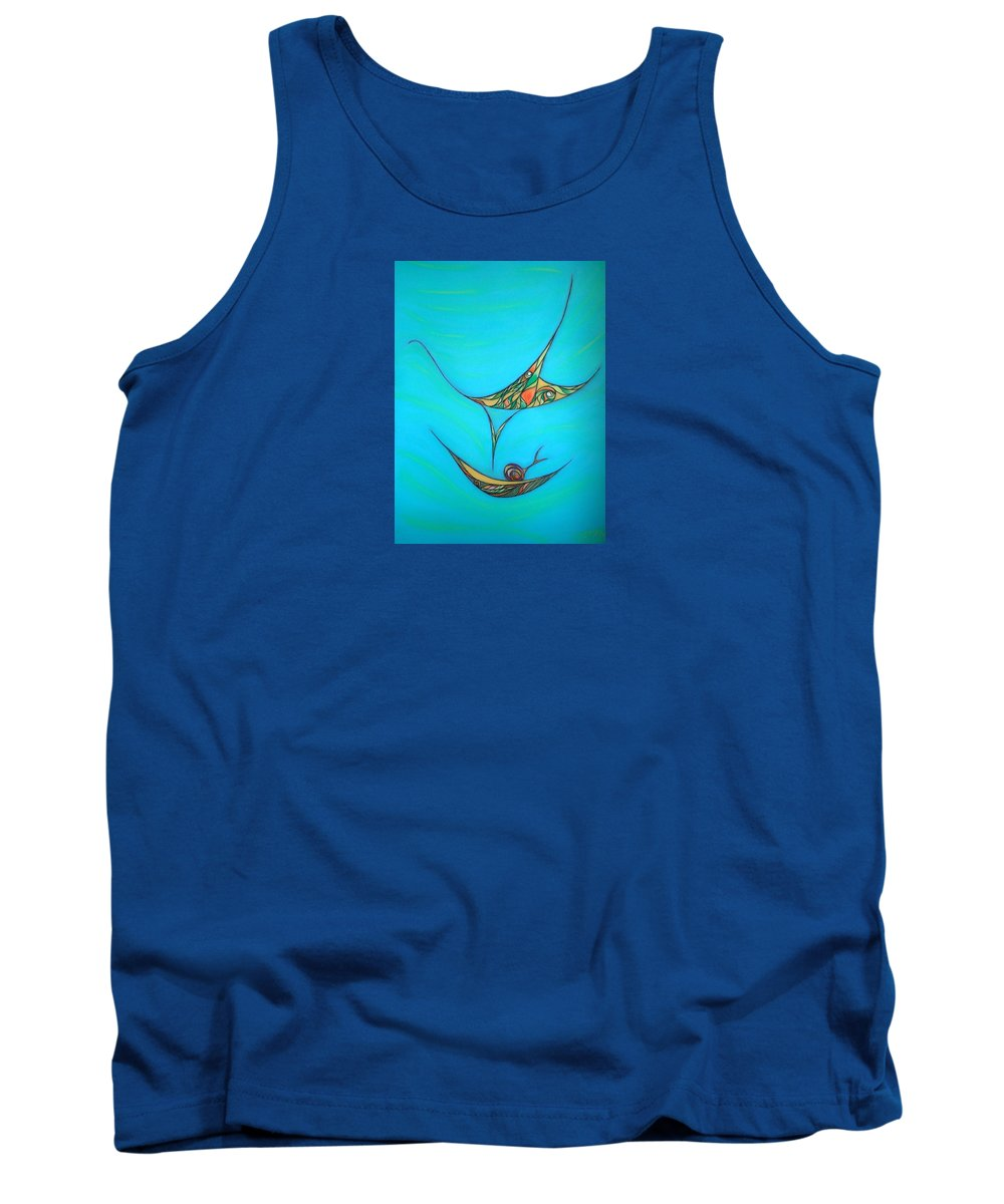Abstract Tank Top featuring the pastel Pneuma by Robert Nickologianis
