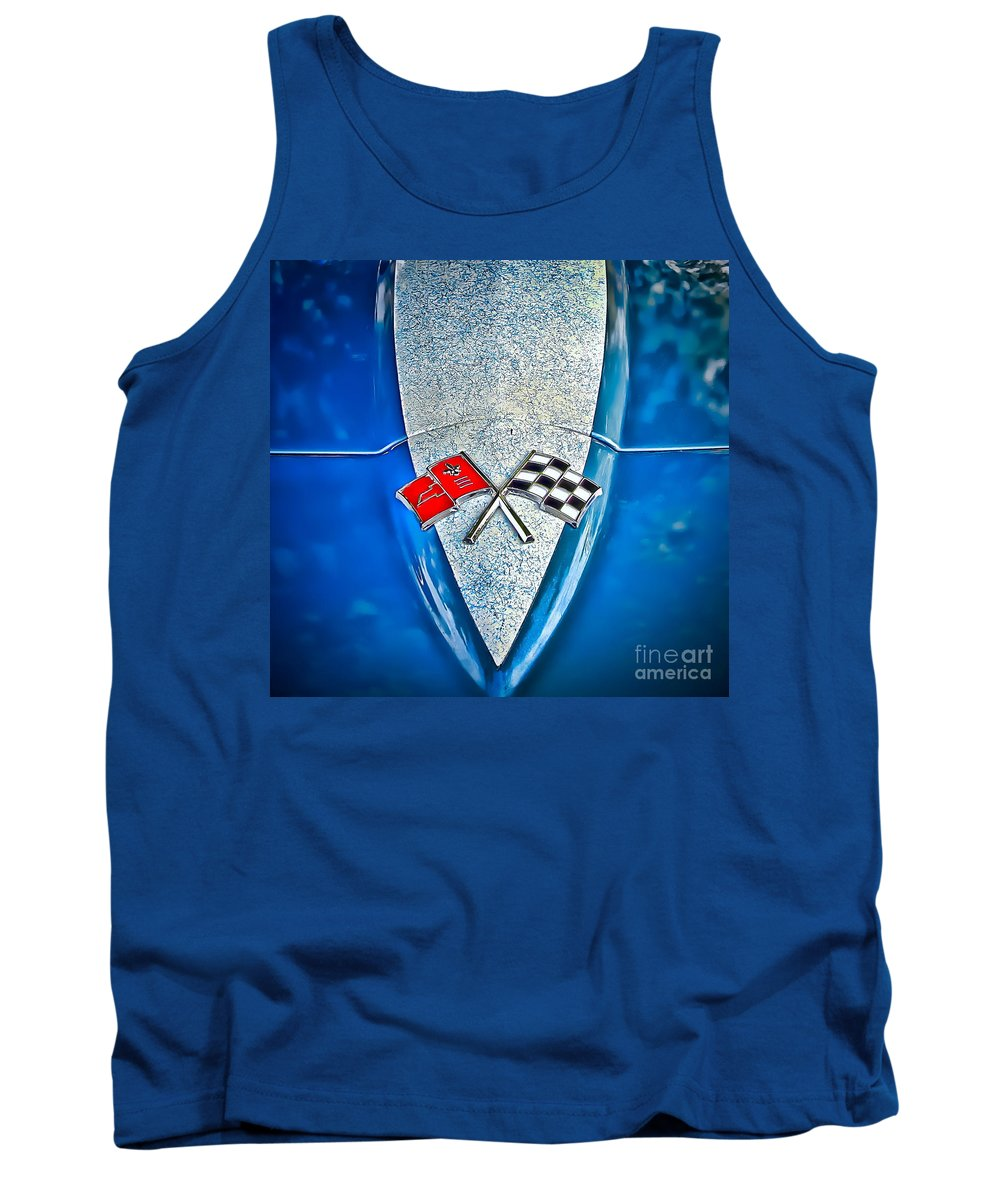 Corvette Tank Top featuring the photograph Race To Win by Colleen Kammerer