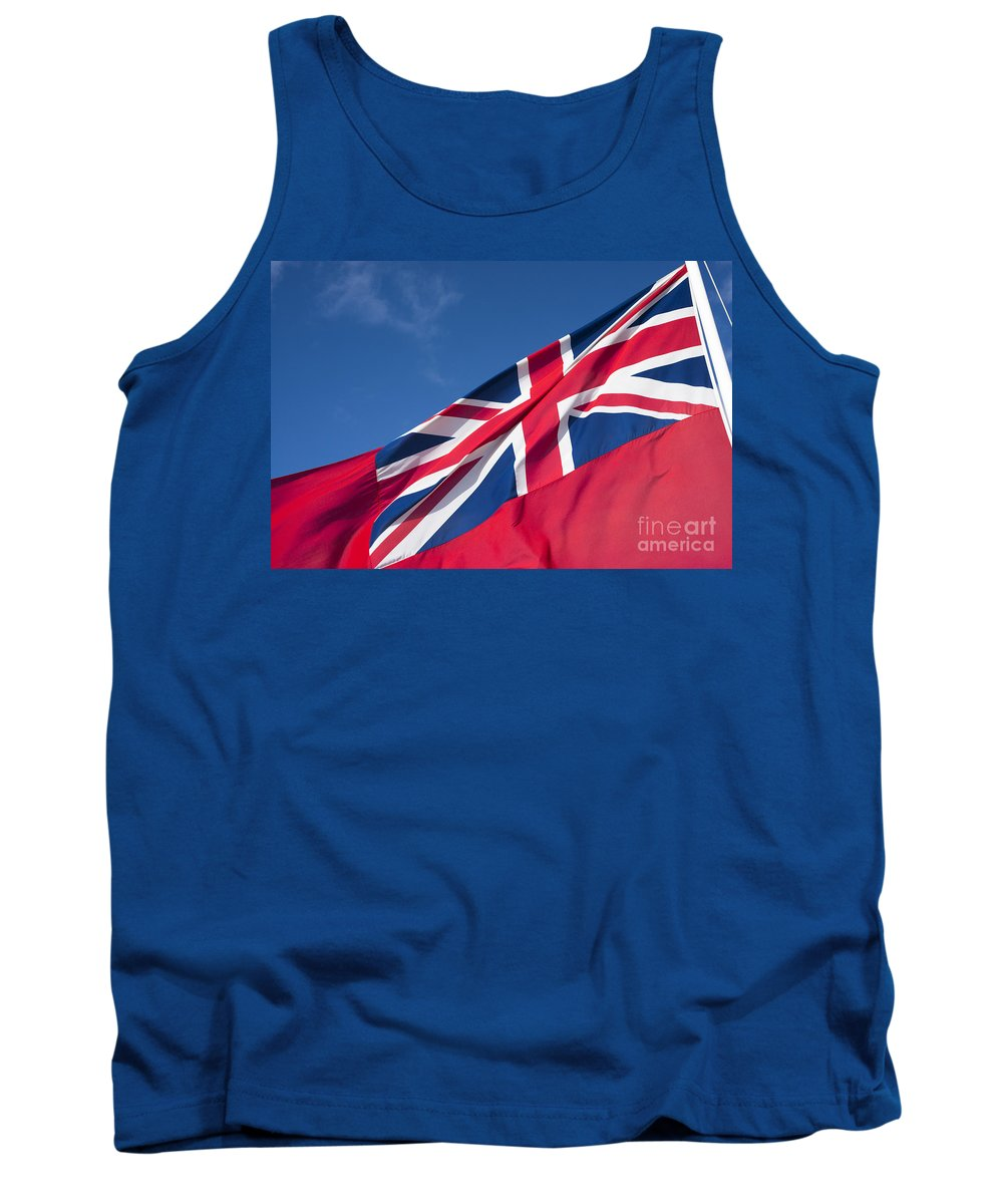 Red Endsign Tank Top featuring the photograph Red Ensign by Anne Gilbert