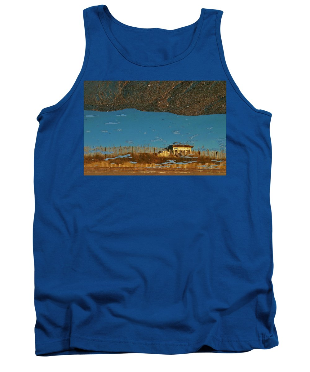 Mark Lemmon Cape Hatteras Nc The Outer Banks Photographer Subjects From Sunrise Tank Top featuring the photograph Reflection Flipped 14 10/31 by Mark Lemmon