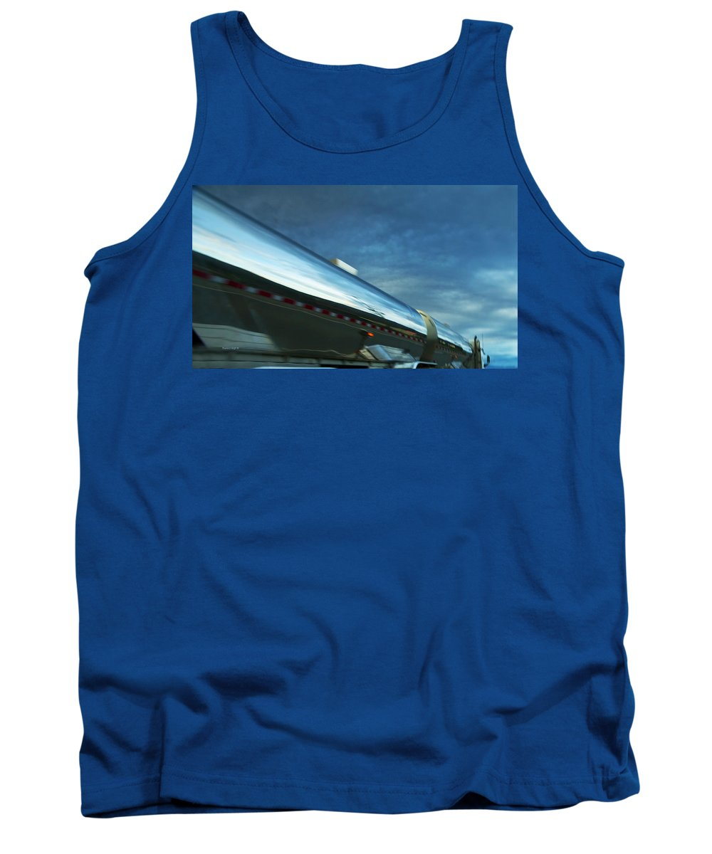 Trucks Tank Top featuring the photograph Reflections In The Passing Lane by Theresa Tahara