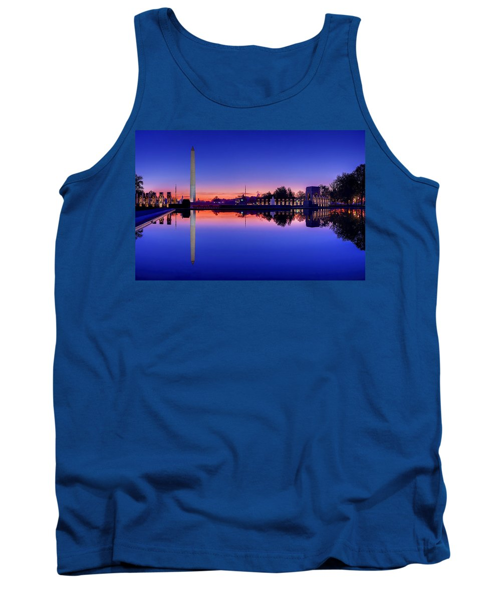 Metro Tank Top featuring the photograph Reflections Of World War II by Metro DC Photography