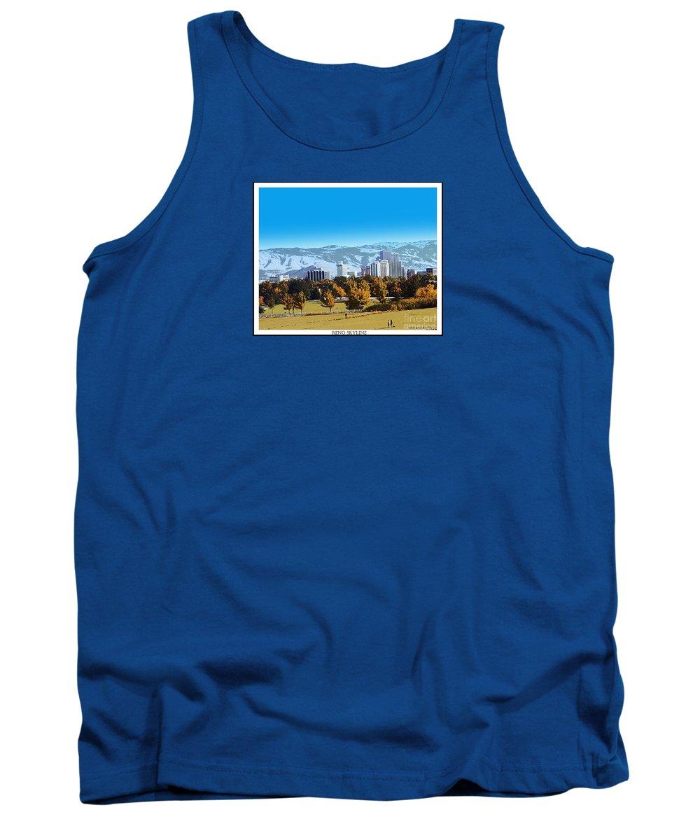 Acrylic Prints Tank Top featuring the photograph Reno Skyline From Rancho San Rafael by Bobbee Rickard