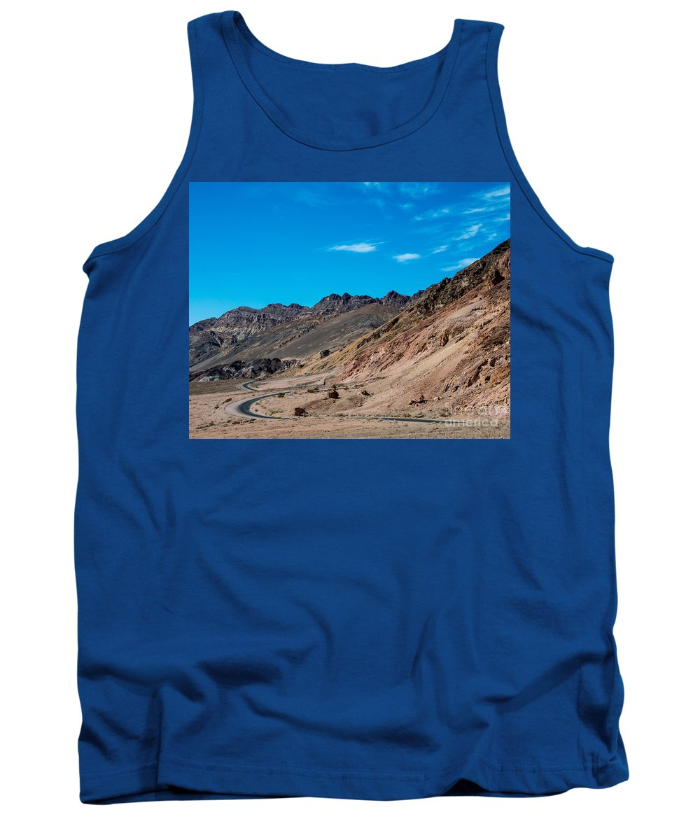 Mountains Tank Top featuring the photograph Road Through Badwater by Stephen Whalen